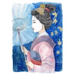 """""""Geisha"""", print A5"""