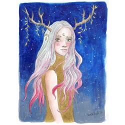 Lady Autumn, print A5