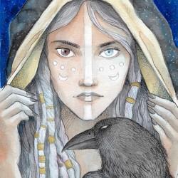 Druida, ilustración original