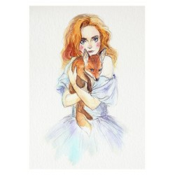 Red fox - Print A4