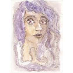 Purple portrait - original A5